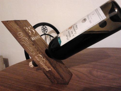 porta vino personalizado - grabado en cnc router