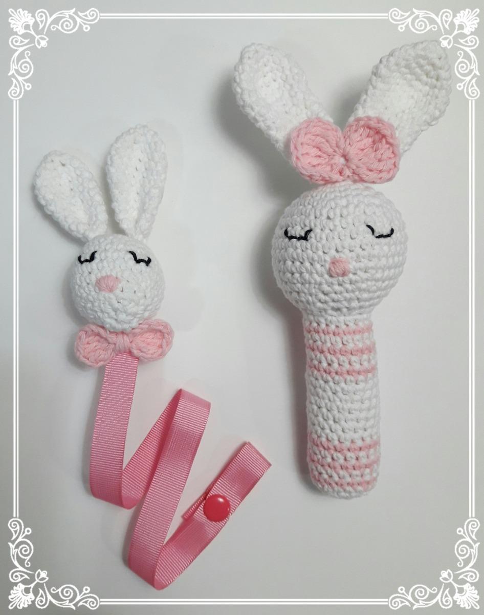 Portachupete Y Sonajero Artesanales En Crochet - $ 400,00 en Mercado ...