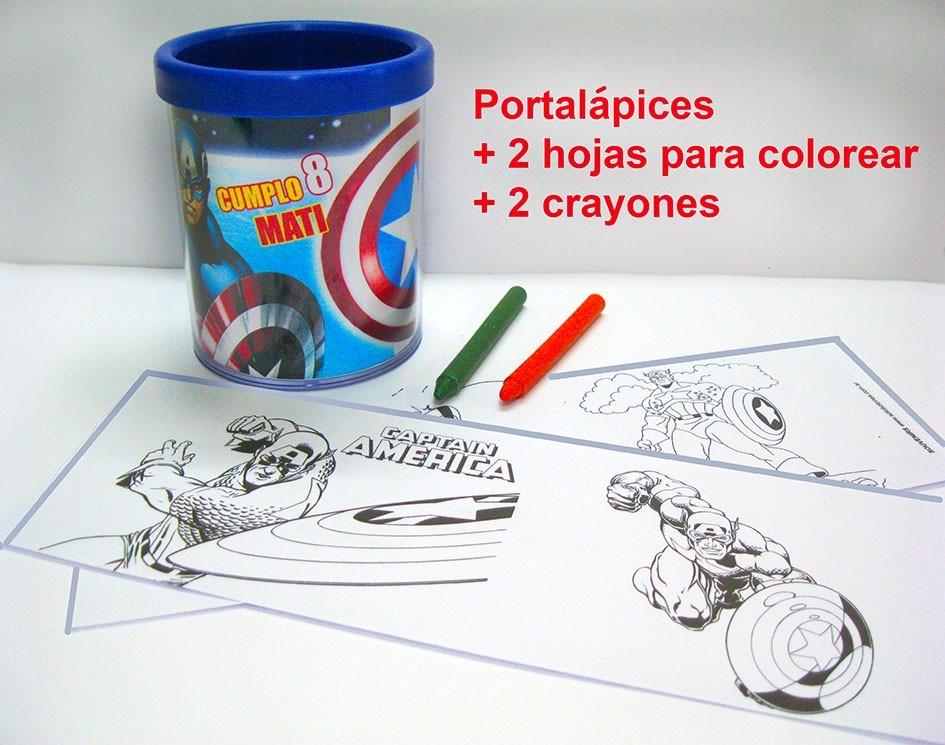 Portalapices + 2 Crayones Y 2 Dibujos Para Colorear - $ 50,00 en ...