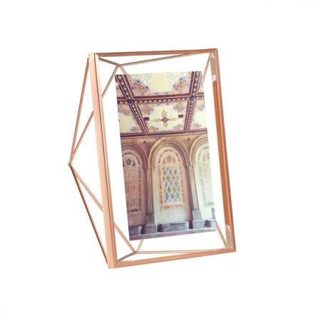 portarretratos 13x18cm cobre prisma