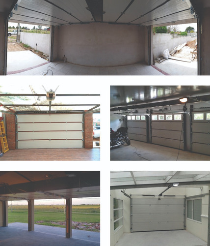 portón garage seccional y basculante automatizado.