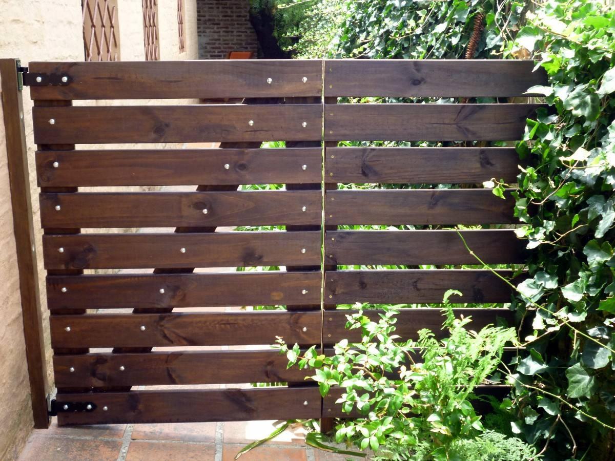 puertas de madera para jardin port n para jard n en madera tratada garantida en mercado libre
