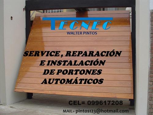 portones automáticos - reparación, mantenimiento y herrería