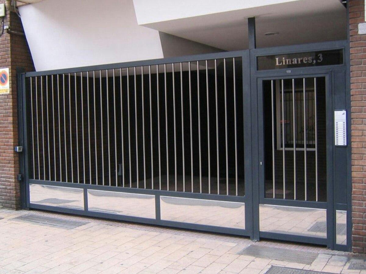 Portones de hierro corredizos casa garaje empresa reja for Modelo de casa con garaje
