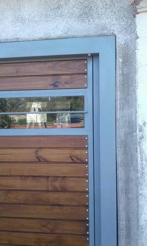 portones de hierro.chapa.madera.vidrio.basculantes.corredizo