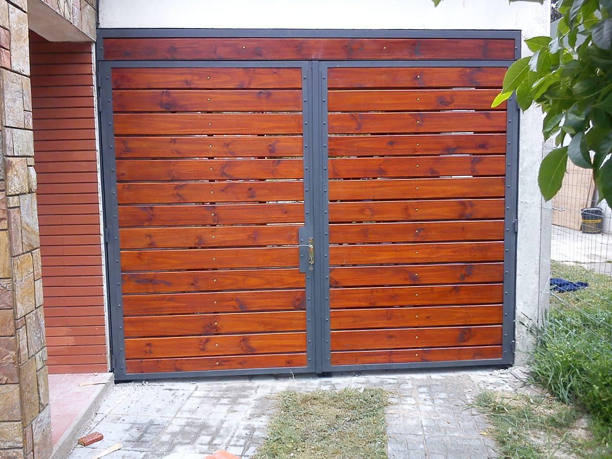 Portones en hierro y madera en mercado libre for Puertas y portones de madera