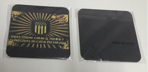 posa vasos personalizados: base de goma y superficie de tela