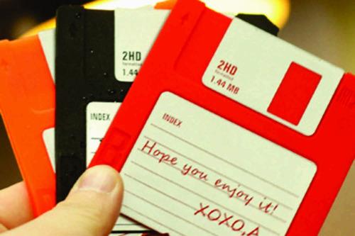 posavasos de silicona diseño diskette x 6   vinilo design