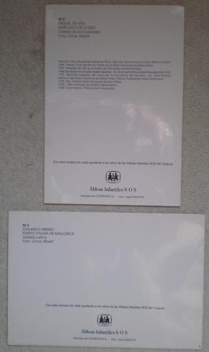postal edgardo ribeiro y miguel de vita pintora uruguay c/u
