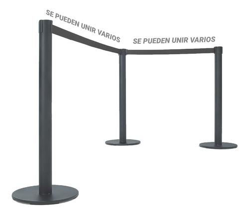 poste separador metálico filas empresas bancos boliches