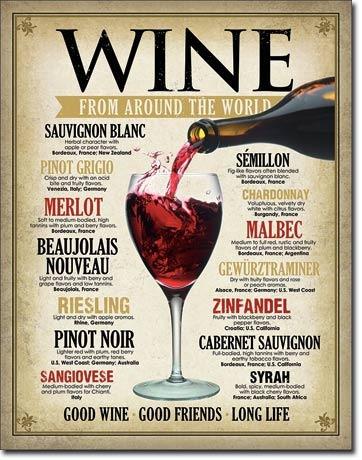 poster metalico litografia anuncio bar vinos del mundo retro