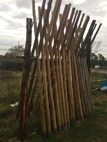 postes curados 7a9 de 2,50mt madera tratada