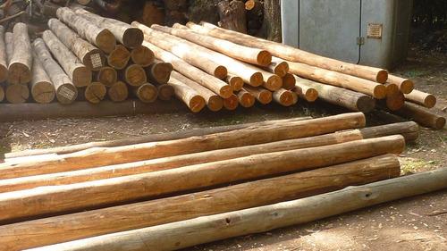 postes de madera tratada para cercos.
