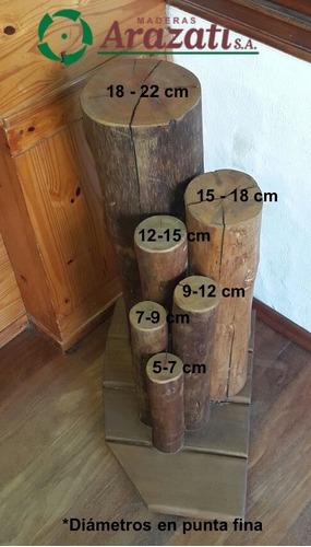 postes tratados - polines - palos - poste - arazati maderas