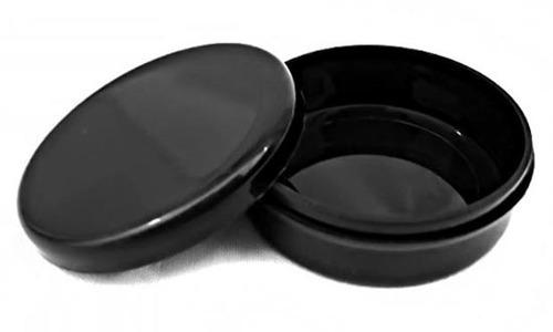 potes de 20 gramos para cremas color negro