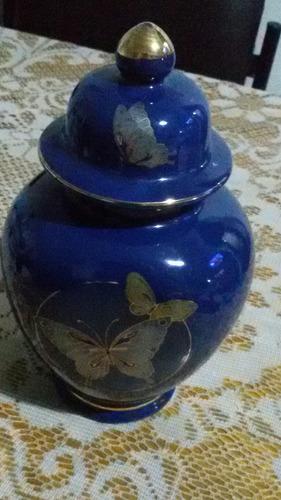potiche antiguo en porcelana japonesa