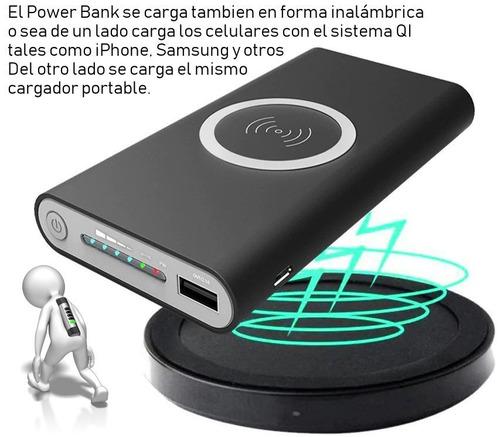 power bank cargador de emergencia qi inalámbrico 10000 mah ®