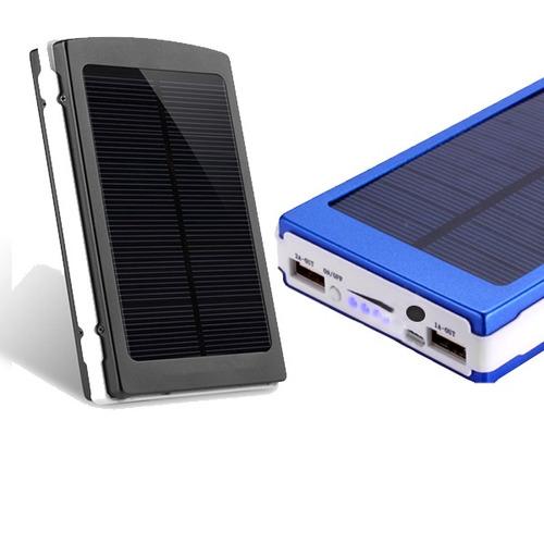 power bank solar 6000mah carga hasta 2 celulares a la vez