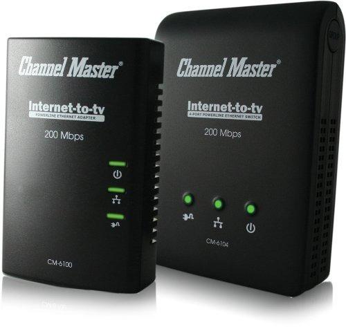 powerline channelmaster internet to tv kit -contains 1