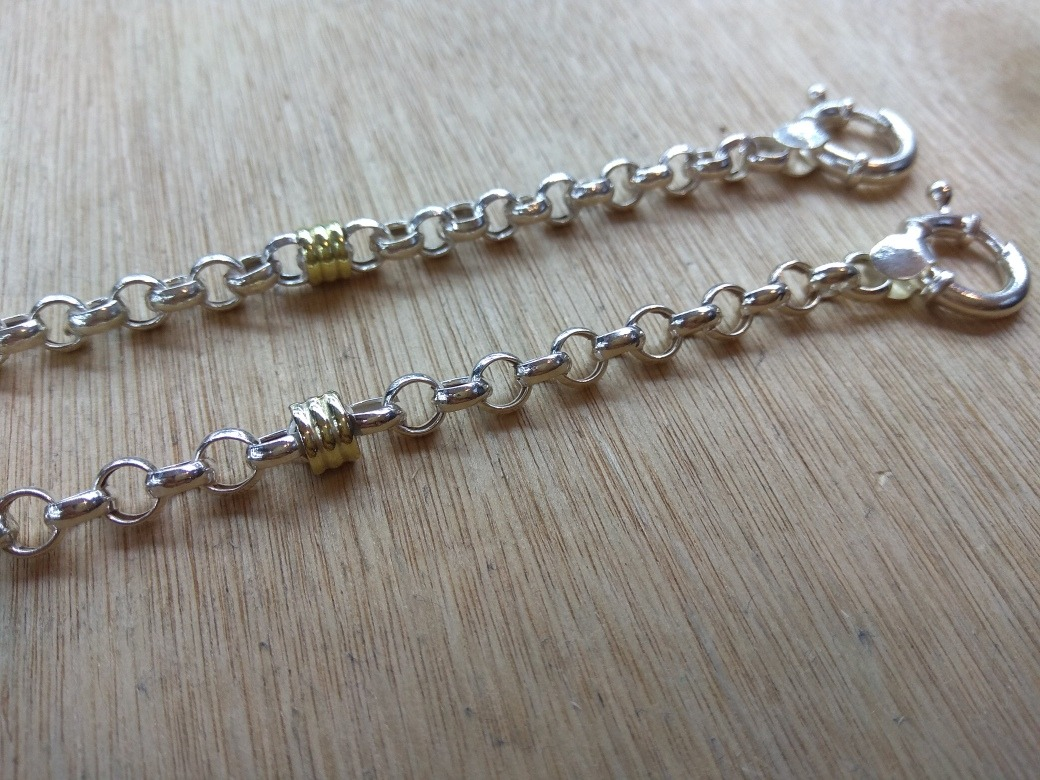 d7c366d99c2e preciosas pulseras rolo de plata 925 y oro. Cargando zoom.