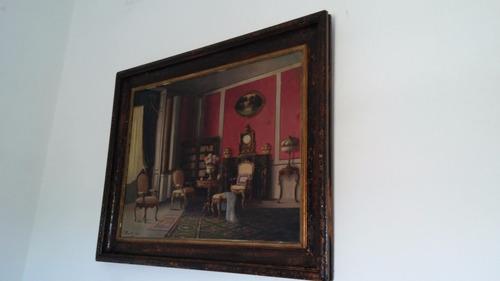 precioso oleo antiguo del pintor hungaro karpatty laslo.