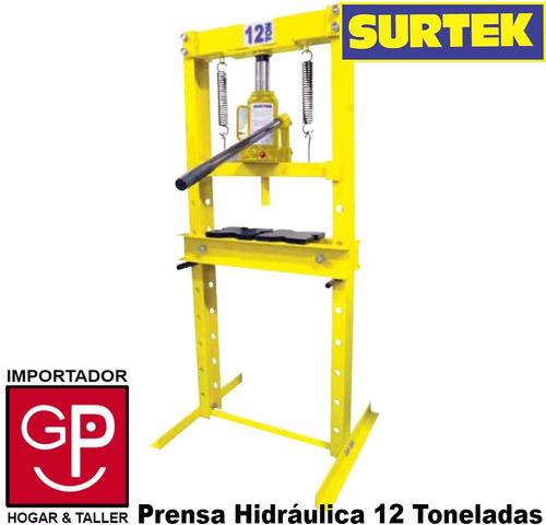 prensa hidráulica industrial 12 toneladas surtek