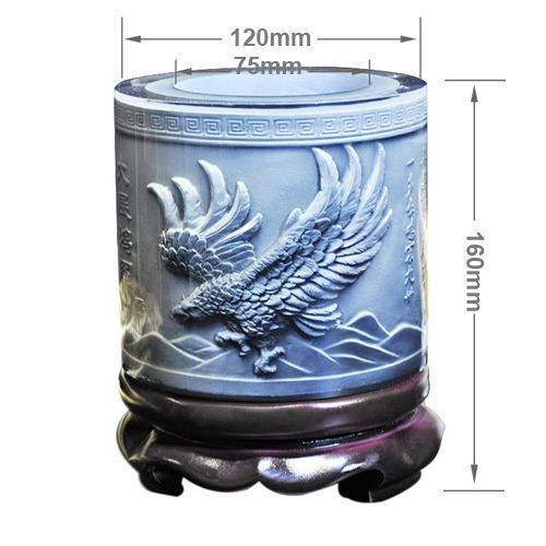 primera cristal resina material eagle wings dibujo grabado