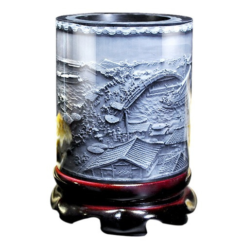 primera forma cristalina resina material relieve adorno