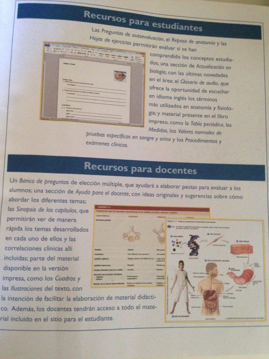 Principios De Anatomia Y Fisiologia Tortora Y Derrickson - $ 3.990 ...