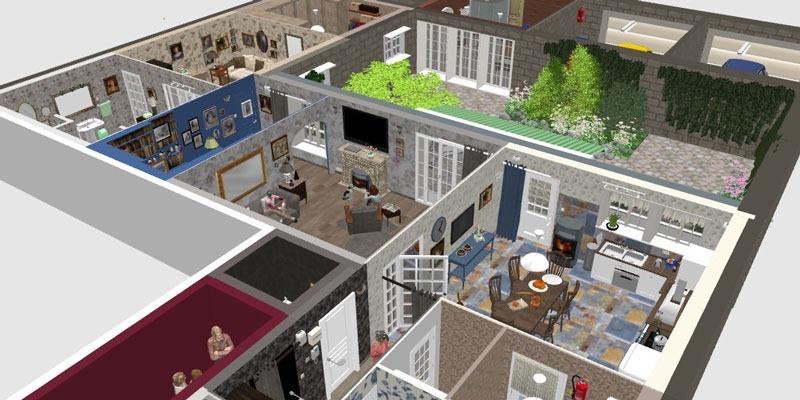 Programa para dise o casas 2d 3d crear interiores de hogar for Programa para diseno de planos
