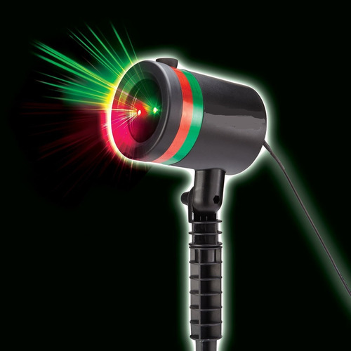 projector exterior laser star show luces  como lo vió en tv