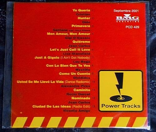 promo 429 sony, power tracks septiembre 2001: santana