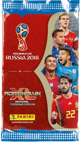 promocion! tarjetas adrenalyn rusia 2018 - pack 5 sobres