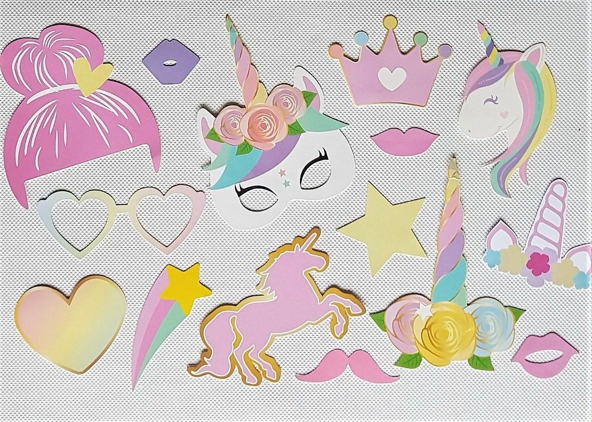 Props Frases Carteles Para Cumpleaños Infantiles Unicornio