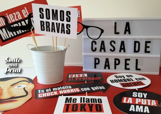 Props Frases Carteles Photo Booth Pack La Casa De Papel 690