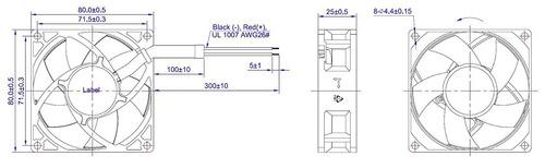 protechnic fan 12 v 92 x 92 x 32mm 4800 rpm