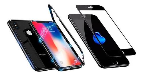 protector 360 magnetico iphone 6 7 7plus 8 8plus + vidrio 5d