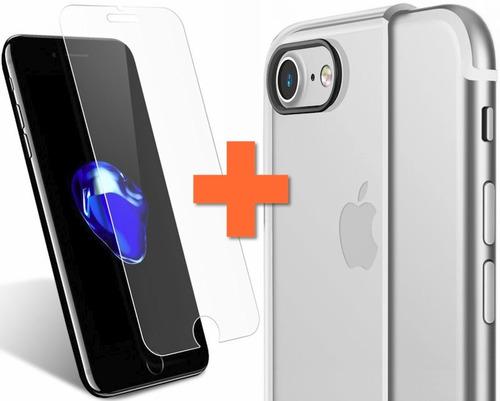 protector alto impacto + vidrio iphone 5 5s 6 6s 7 8 y plus®