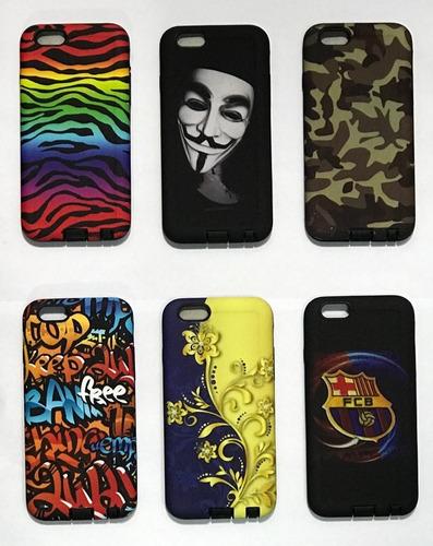 protector armor  funda varios diseños iphone 5 5s 6s 7