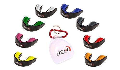 protector bucal redline sportswear w / vented case - protecc