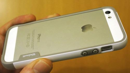 protector bumper de borde en tpu iphone 5 se 5s 5 walnutt ®