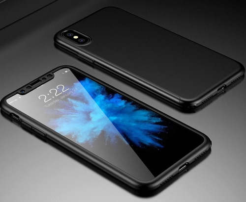 protector completo full 360 + vidrio iphone x xs xs max xr ®