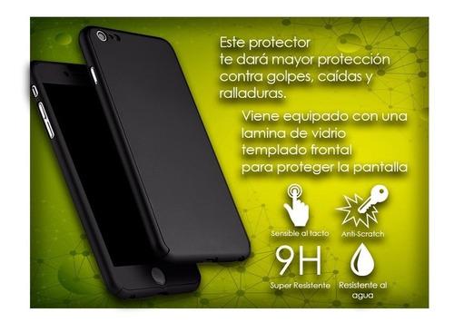protector full 360 con vidrio templado iphone 5 6 7