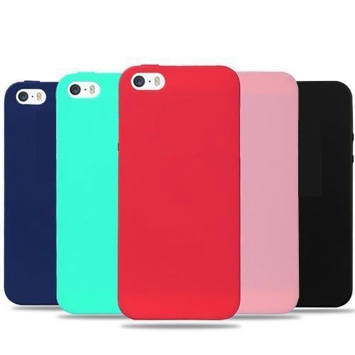 ec115b518de Protector Funda iPhone 5 Se Silicona Rojo Carcasa - $ 199,00 en Mercado  Libre