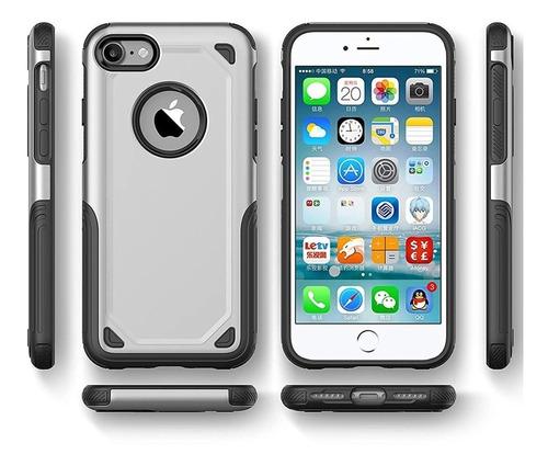 protector power armor super resistente doble capa iphone 8 7