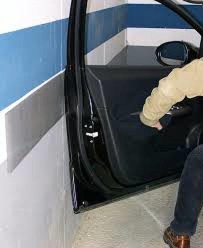 protector puerta salva puerta moldura adhesiva auto 2 negro