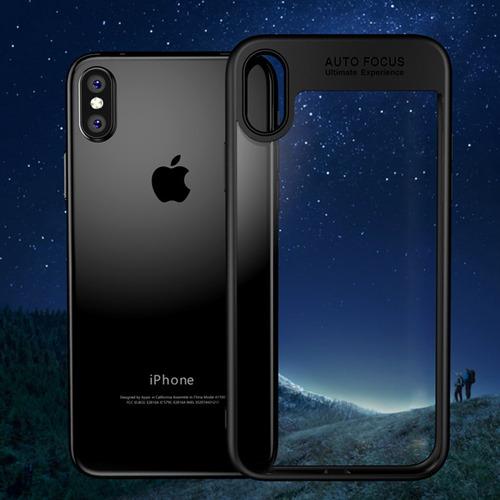protector rigido clear iphone x - 7 - 8 - luxury ultra slim