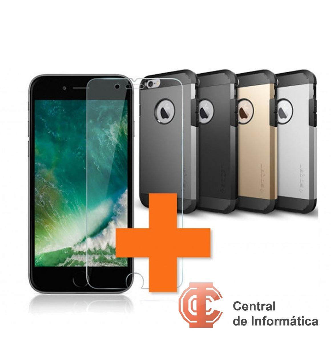 505f7a7e32e Protector Spigen Slim Armor iPhone 7 + Vidrio - $ 350,00 en Mercado ...