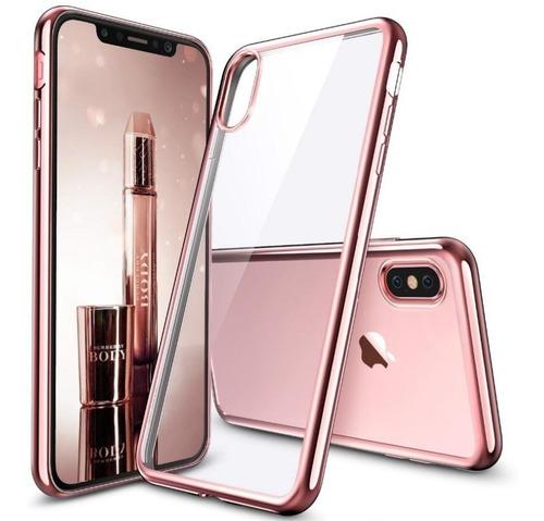 protector tpu metalizado + vidrio iphone x xs / xs max xr ®