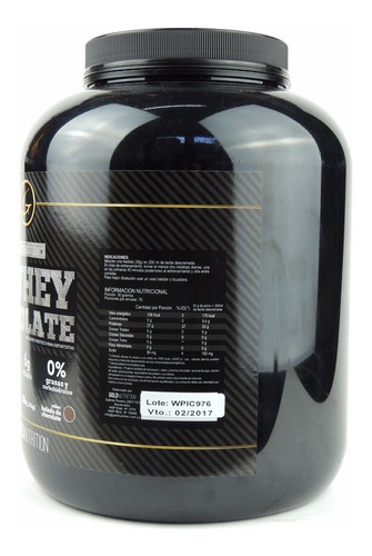 proteina whey protein 100% whey isolate gold nutrition 5 lb